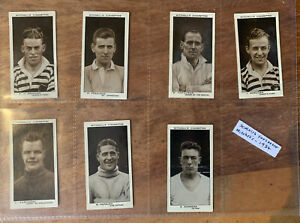 1930s 7 Cards Stephen Mitchell And Sons Scottish Footballers Cigarette Cards