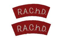 R.A.Ch.D. Shoulder Titles - WW2 Repro Royal Army Chaplaincy Department Patches