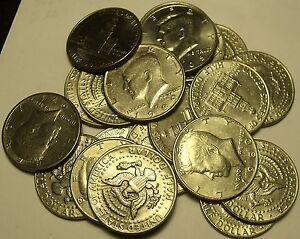 États-unis Rouleau (20 Pièces) Distribué Kennedy Half Dollars Mixte Dates ~ Fr /