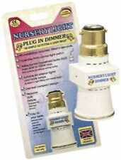 NURSERY Plug in Night Light Dimmer / Adapter ( No Dimmer Switch needed) UK Stock