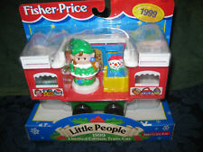 Fisher Price Little People Christmas Train Car 1999 Elf Limited Edition girl box