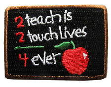 "#3871 2 1/2"" Blackboard School Embroidery Iron On Applique Patch"