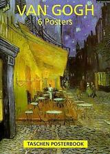VAN GOGH POSTERBOOK ~ 6 FRAMEABLE WORKS OF ART ~ CAFE TERRACE VINCENTS BED MORE!
