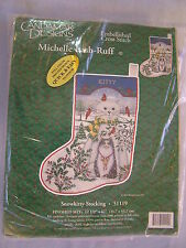 Candamar Designs Snowkitty Embellished Cross Stitch Christmas Stocking Kit