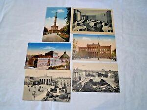 8 x AK Berlin Opernhaus Hedwigskirche Feldpost1917/ Fürstenhof Frühstückszimmer