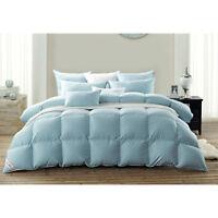 Snowman Goose Down Comforter/Duvet 100% Egyptian Cotton Twin Size- Blue