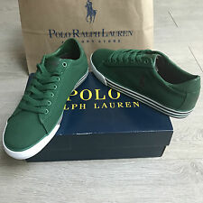 BNIB Ralph Lauren canvas trainers sneakers UK 7 Eu 41 Gorgeous Green 100%Genuine