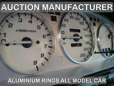Honda Civic 92-95  POLISHED ALUMINIUM CHROME DIAL RINGS  SPEEDO SURROUNDS