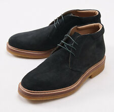NIB $2100 KITON Dark Green Suede Storm-Welt Chukka Ankle Boots US 11 Shoes