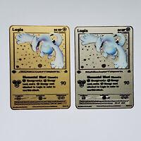 Pokemon Lugia Neo Genesis 1st Edition GOLD/SILVER METAL CUSTOM CARD New