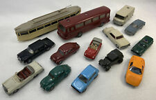 Wiking Plastic HO Scale Lot of Cars Bus Street car VW Gold Mercedes 14 Volvo 70s