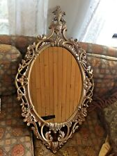 Turner Fashion plate Vintage French Provincial Gold Wall Mirror