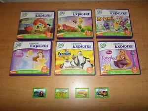 Lot of 10 LeapFrog Leapster Explorer LeapPad Games - Fast Shipping