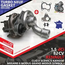 Turbo NEUF RENAULT CLIO II 1.5 dCi -59 Kw 80 Cv AVEC JOINT GASKET 54359700002