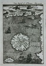 Original antique map SAO TOME & PRINCIPE, GULF OF GUINEA, AFRICA, Mallet, c.1719