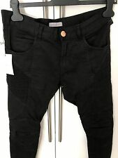 Authentic Pierre Balmain Black Super Skinny Biker Jeans   W32  L34 rrp £495