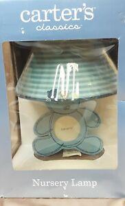 Carter's Classics Nursery Lamp Blue Cute Bear NEW IN BOX