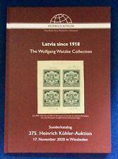 German Stamp Auction catalogue Heinrich Kohler Latvia Since 1918 hardback