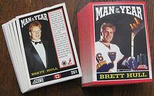 1991-1992 Score #261 Brett Hull (Blues) Man of the Year (LOT 72 Cards!)