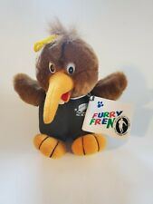 "Furry Frenz All Blacks Rugby Team New Zealand 6"" Kiwi Bird Plush - Free Shipping"