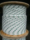 "NovaTech XLE Halyard Sheet Line, Dacron Sailboat Rope 1/2"" x 250' White/Green"