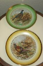 Antique Imperial Germany Game Bird Plate Pr Pheasant Quail Signed Stunning
