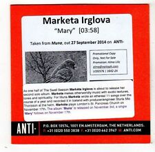 (FW854) Marketa Irglova, Mary - 2014 DJ CD