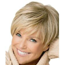 Natural Light Blonde Straight Short Hair Wigs Short Women's Fashion Wig New