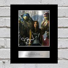 Megan Fox Signed Mounted Photo Display Teenage Mutant Ninja Turtles