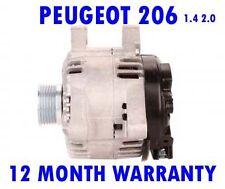 PEUGEOT 206 HATCHBACK SW (2A/C) 1.4 2.0 16V HDI 1999 - 2015 ALTERNATOR