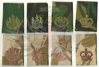 BRITISH ARMY SURPLUS DPM & DESERT DPM RANK SLIDE,CSM,RQMS,WARRANT OFFICER,SSM