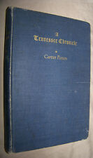 A Tennessee Chronicle by Cartter Patten 1953 HC Tennessee HIstory
