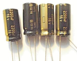 2200uf 16v 105c LOW ESR Size 25mmx12.5mm Panasonic EEUFM1C222  x4pieces