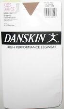 DANSKIN HIGH PERFORMANCE LEGWEAR - NEW - MEDIUM - LT. TOAST -  FOOTED TIGHTS
