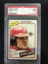 1980 Topps Pete Rose Philadelphia Phillies #540 Baseball Card