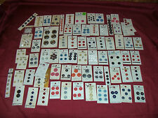70 Cards of Vintage Buttons La Mode Italian Lansing Japan Japanese Clothing Old