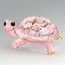 Strength Crystal Cuties Turtle Figurine Bradford Breast Cancer Awareness