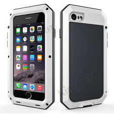 Waterproof Aluminum Metal Shockproof Case with Gorilla Tempered Glass For iPhone