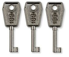 3 x Canterbury 088 Upvc Window Handle Key Cockspur Key  ** Free Postage **