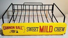 Vintage Cannon Ball Sweet Mild Chew Tobacco Advertising Metal Store Display Rack