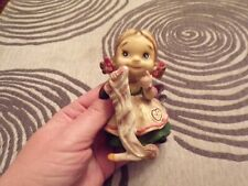 Vtg Josef Orginial Girl With Christmas Stocking