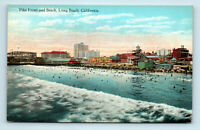 Long Beach, CA - PIKE FRONT BEACH VIEW & AMUSEMENTS - UNUSED POSTCARD