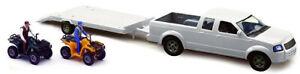 NEW37135B - Voiture 4x4 Pick-up couleur blanc accompagnée de 2 figurines d'une r