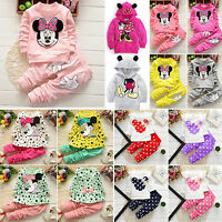 Kids Toddler Clothes Minnie Mouse Sweatshirt Outfits Top Pants Tracksuit Sets