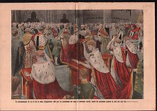 Coronation George V & Mary of Teck Westminster Abbey London UK 1911 ILLUSTRATION