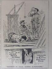 WW1 1914 12A agosto alterazioni & costruttori sul lavoro-Tè Break! PUNCH CARTOON