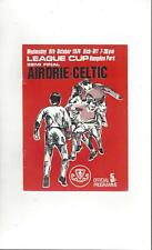Airdrie v Celtic Scottish League Cup Semi Final Football Programme 1974/75