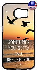 Galaxy Beach Inspirational Quote Case Cover Samsung S10e S10 + S9 Plus S8 Birds
