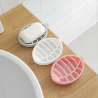 1pcs Soap Dish Fish Shape Soap Box Double Layer Draining Soap Rack Plate Tray