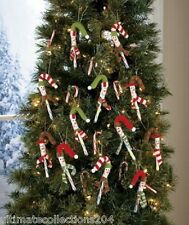 CANDY CANE Christmas Tree Ornament Covers Set 12 Holiday Decor SNOWMAN Brand New